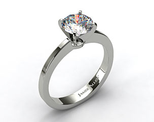 14k White Gold Cathedral Reverse Tapered Diamond Engagement Ring 